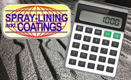 Calculator for truck bed coatings